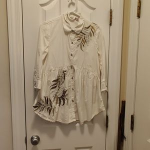 Anthropologie embellished tunic